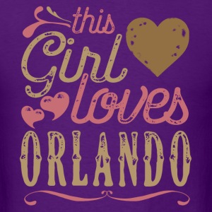 This Girl Loves Orlando T-Shirts - Men's T-Shirt