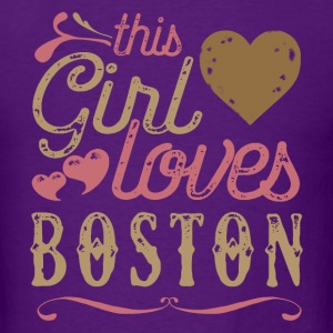 This Girl Loves Boston T-Shirts - Men's T-Shirt
