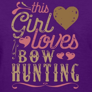 This Girl Loves Bowhunting Bow Hunting T-Shirts - Women's T-Shirt