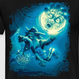 Werewolf Hoops Basketball Wolf - Men's Premium T-Shirt