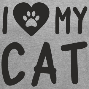I Love My Cat T-Shirts - Women´s Rolled Sleeve Boxy T-Shirt