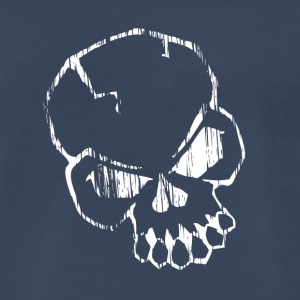 White skull - Men's Premium T-Shirt