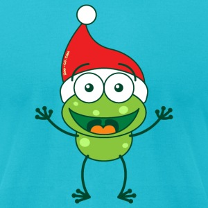 Christmas frog wearing Santa hat T-Shirts - Men's T-Shirt by American Apparel