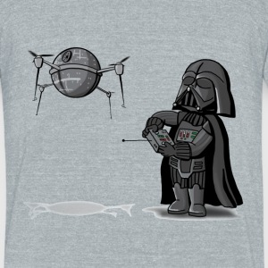 Drone Vader - Unisex Tri-Blend T-Shirt by American Apparel