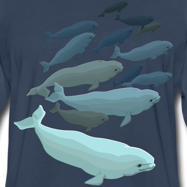 Beluga Whale T-shirts Men's Long Sleeve