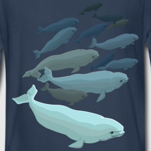 Bleuga Whale T-shirts Kid's Long Sleeve - Kids' Premium Long Sleeve T-Shirt