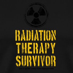 Radiation Therapy Survivor Yellow and Black - Men's Premium T-Shirt