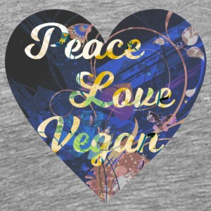 Vegan - Peace, Love, Vegan - Men's Premium T-Shirt