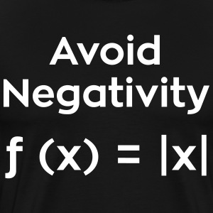 Avoid Negativity Funny Math - Men's Premium T-Shirt