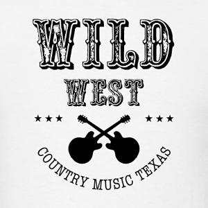 Wild West Black  - Men's T-Shirt