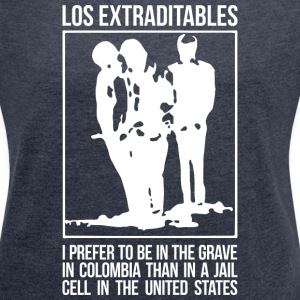 Los Extraditables (eng dark) T-Shirts - Women´s Rolled Sleeve Boxy T-Shirt