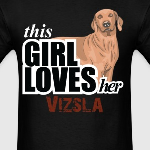 Thıs Gırl Loves-Her Vizsla T-Shirts - Men's T-Shirt
