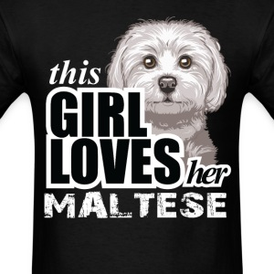 Thıs Gırl Loves her Maltese T-Shirts - Men's T-Shirt