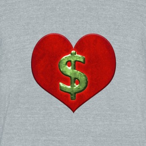 Love for Money Logo - Unisex Tri-Blend T-Shirt by American Apparel
