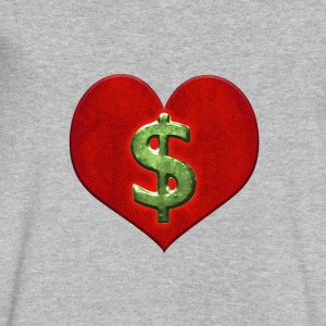 Love for Money Logo - Men's V-Neck T-Shirt by Canvas