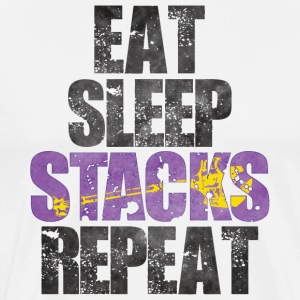 Eat Sleep Stacks Repeat - Men's Premium T-Shirt