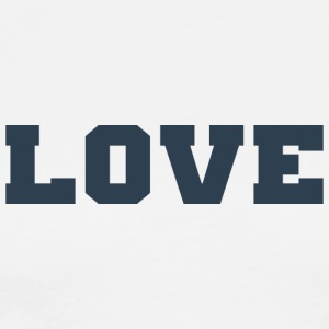 Love (Collegiate Design) - Men's Premium T-Shirt