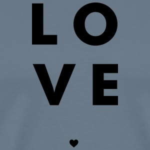 Love Stacked w/ A Heart (Black Letters) - Men's Premium T-Shirt