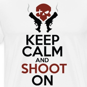 Keep Calm and Shoot On - Men's Premium T-Shirt