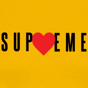 Love Supreme - Red Heart (Black Letters) - Men's Premium T-Shirt
