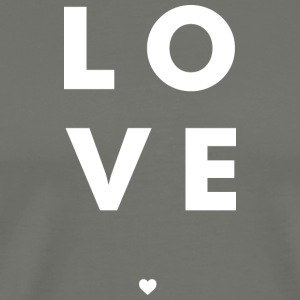 Love Stacked w/ A Heart (White Letters) - Men's Premium T-Shirt