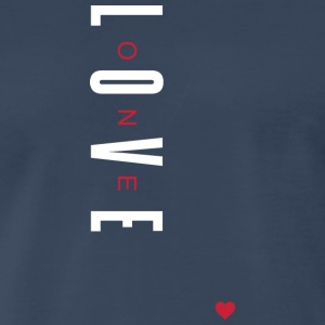 One Love (White/Red Letters) - Men's Premium T-Shirt
