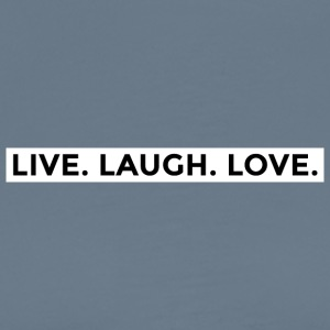 Live Laugh Love (Black/White Border) - Men's Premium T-Shirt