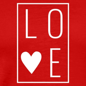 Love - Heart Box Design (White Letters) - Men's Premium T-Shirt