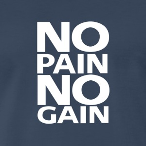 No Pain No Gain logo | White - Men's Premium T-Shirt