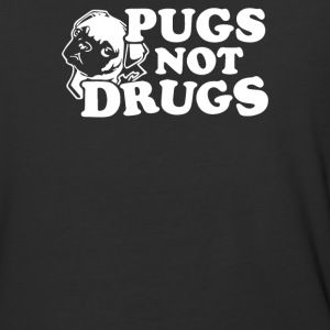 pugs not drugs - Baseball T-Shirt