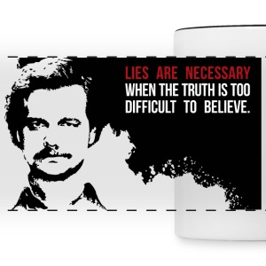 Lies are necessary Mugs & Drinkware - Panoramic Mug