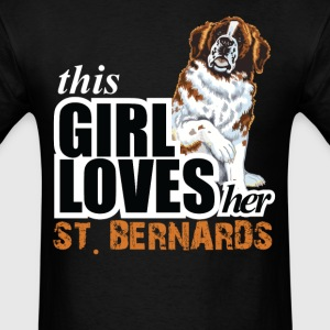 This Girl Loves-Her St.Bernards T-Shirts - Men's T-Shirt