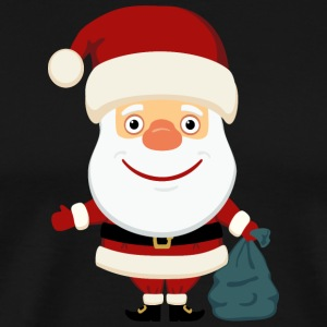 Santa-Claus-Marry-Christmas-New-Year-aplication- - Men's Premium T-Shirt