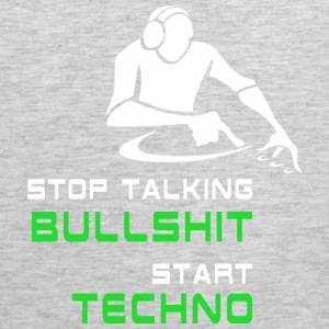 Stop talking Bullshit Start Techno Sportswear - Men's Premium Tank