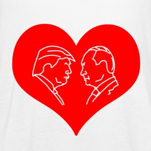 Trump Putin Red Heart Tanks - Women's Flowy Tank Top by Bella