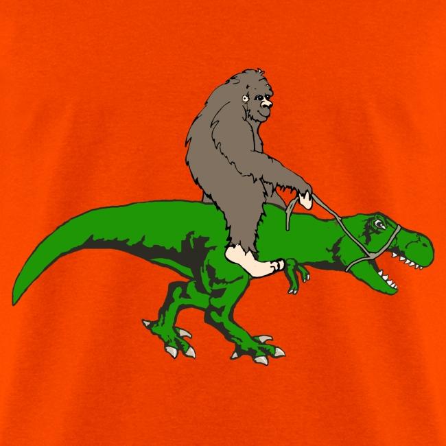 Bigfoot riding T rex