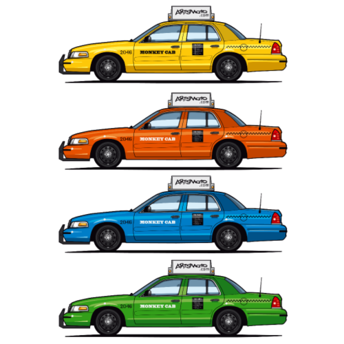 Color Taxi Cabs Crown Vic