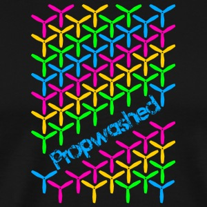 Propwashed Prop Pattern (Rainbow-Blue) - Men's Premium T-Shirt