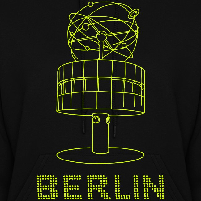 World time clock Berlin (neon-yellow)