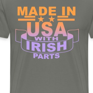 made_in_usa_with_irish_parts_ - Men's Premium T-Shirt