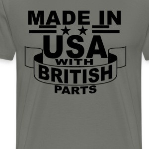 made_in_usa_with_british_parts_ - Men's Premium T-Shirt