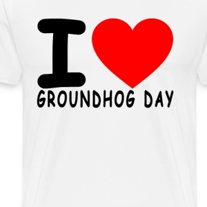 i_love_groundhog_day_tshirt_ - Men's Premium T-Shirt