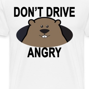 dont_drive_angry_groundhog_tshirt_ - Men's Premium T-Shirt