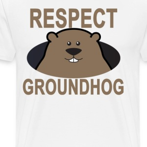 respect_the_groundhog_ - Men's Premium T-Shirt