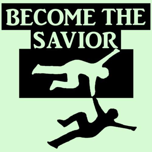 Become The Savior Logo Black