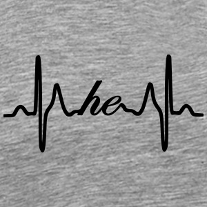 He ECG Heartbeat - Men's Premium T-Shirt