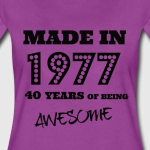 Made in 1977 40th Birthday - Women's Premium T-Shirt