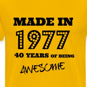 Made in 1977 40th Birthday - Men's Premium T-Shirt