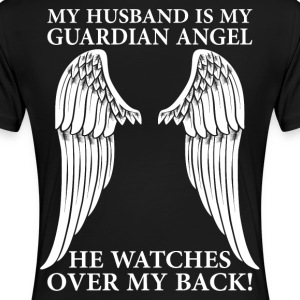 My Husband Is My Guardian Angel T-Shirts - Women's Premium T-Shirt