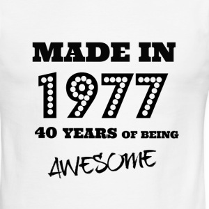 Made in 1977 40th Birthday - Men's Ringer T-Shirt
